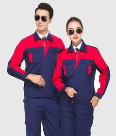 纯棉长袖vwin官方网站套装,建筑劳保服工装定制