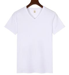 纯棉v领t恤定制,纯棉v领t恤定做厂家