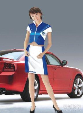 车模促销服定做,车模促销服定制,定做车模促销服那里好