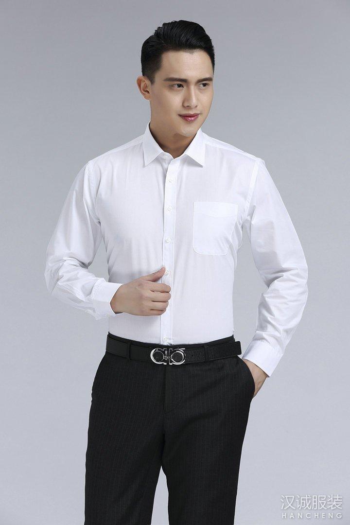 新款时尚白色商务衬衫定制2