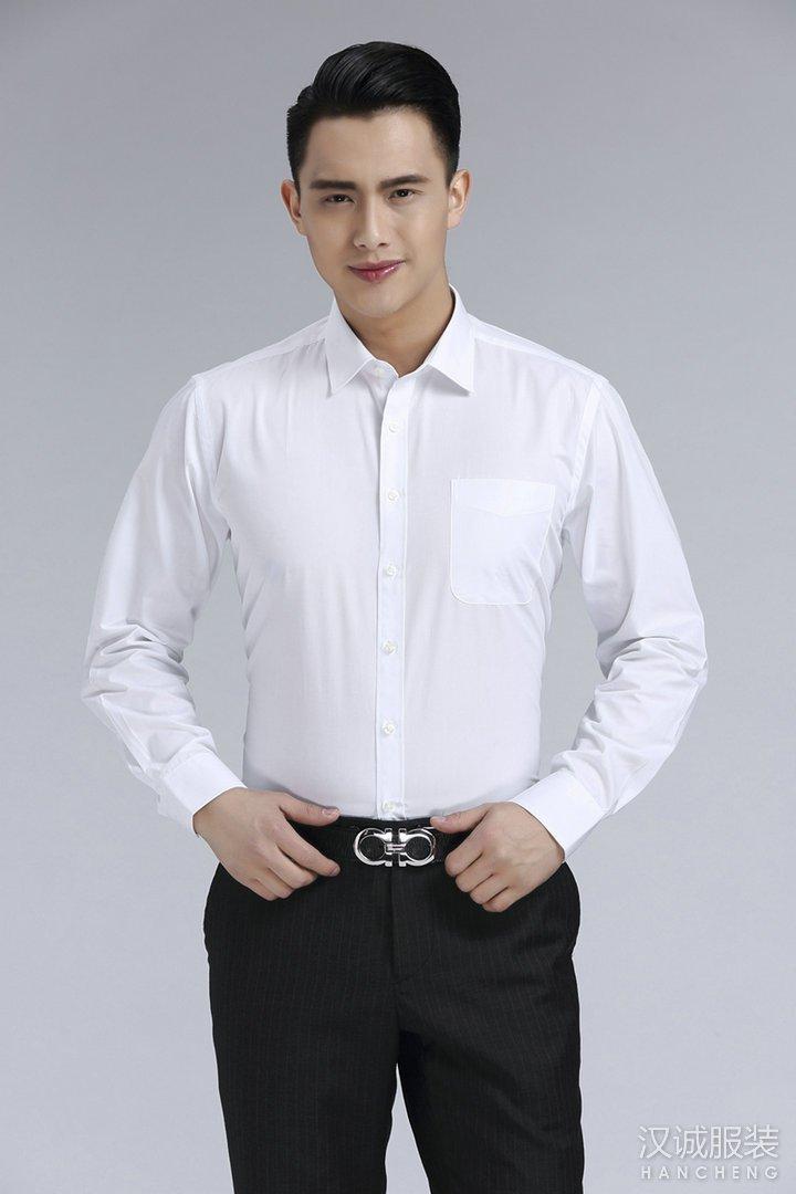 新款时尚白色商务衬衫定制3