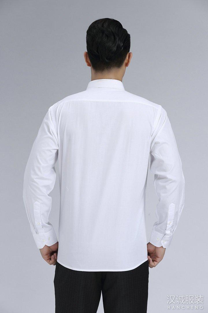 新款时尚白色商务衬衫定制4
