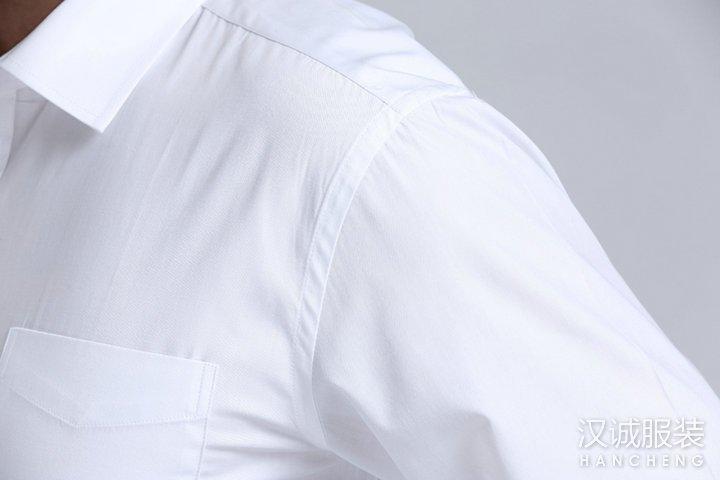 新款时尚白色商务衬衫定制-细节1