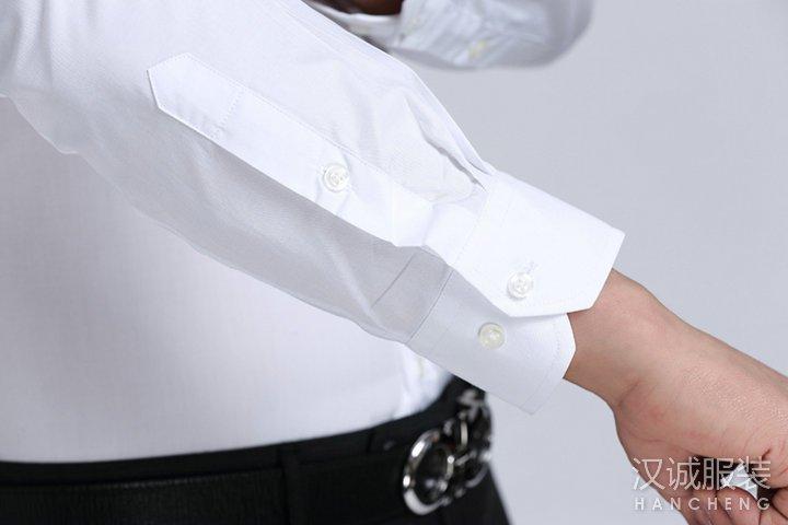 新款时尚白色商务衬衫定制-细节3