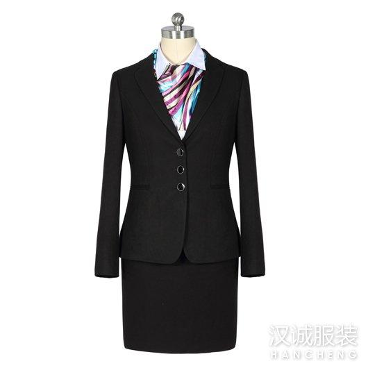 秋冬女士职业西服套装定做1