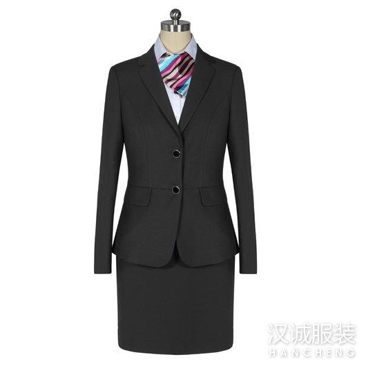 时尚黑色正装女士西服套装1