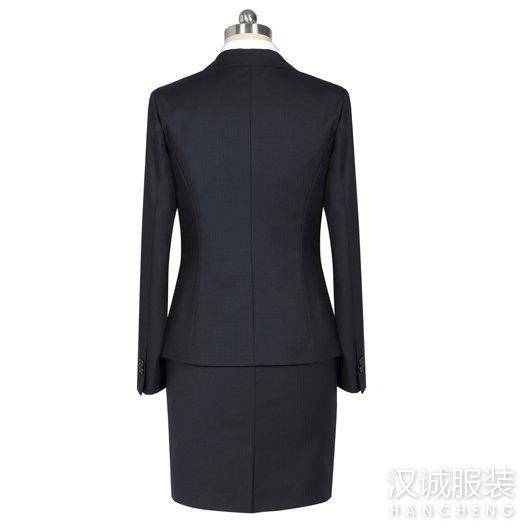 时尚黑色正装女士西服套装2